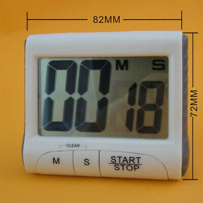 Digital Display Timer Magnet Hanging Wall Counter Alarm Stopwatch Kitchen / Lab