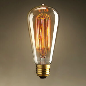 NEW: 6-PACK EDISON LIGHT BULBS SQUIRREL CAGE FILAMENT E26/E27