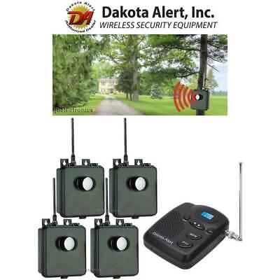 DAKOTA ALERT MURS BS KIT 4 WIRELESS MOTION SENSORS DRIVEWAY SECURITY ALARM NEW  Motion Alert Kit
