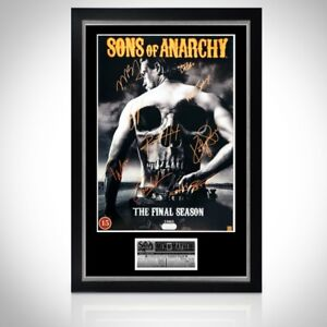 SONS OF ANARCHY 'SKULL' HAND SIGNED POSTER Custom Frame