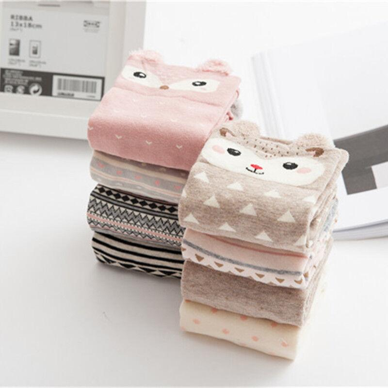 Cute 3D Cartoon Animal Zoo Women Socks Ladies Girls Cotton Warm Soft Sox Lovely