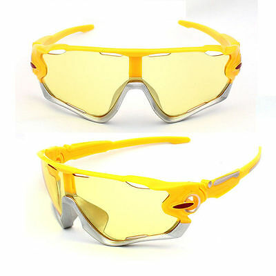 Sunglasses Yellow Mountain Bike Cycling Helmet Sun Glasses Amber Night Vision (Best Mountain Bike Glasses)