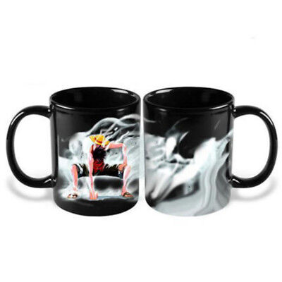 Heat Reactive Color Change Ceramic Coffee Mug Cup 1pc Anime One Piece Luffy UK
