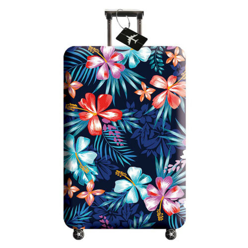 Floral Elastic Trolley Suitcase Protector Travel Luggage Cov