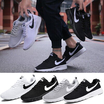 UK Mens Womens Gym Sports Shoes Running Trainers Lace Up Casual Pumps Sneakers