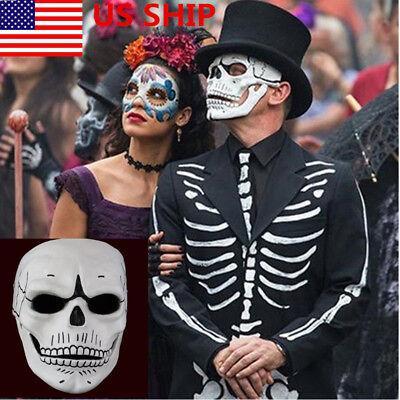 US! Halloween Skull Skeleton Full Face Mask Cosplay For James Bond 007: Spectre - Skull Face For Halloween