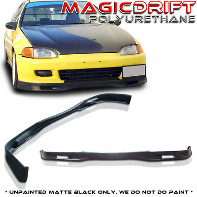 - For 92-95 HONDA CIVIC EG HATCH 3DR PU SPOON Style Front Bumper Chin Lip Spoiler