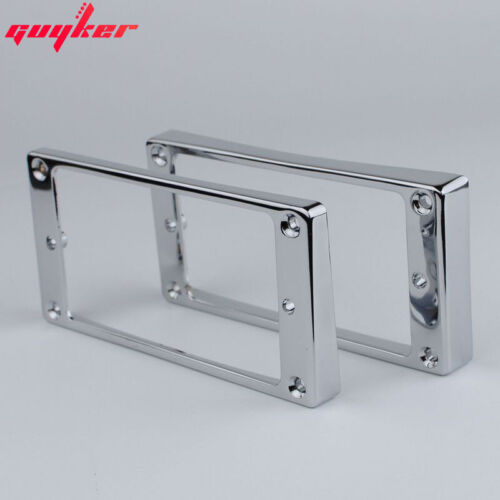 1 Set Chrome Humbucker Pickup Frames Mounting Ring Curved Tapered For LP Guitar