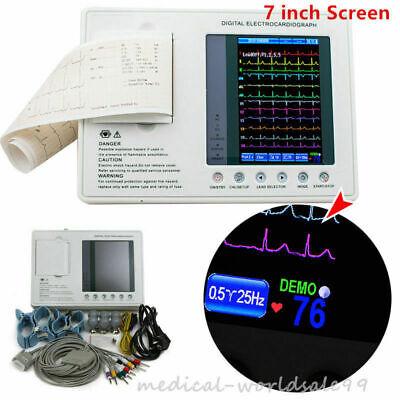 Digital 3-channel 12-lead Electrocardiograph Ecgekg Machine Interpretation Fda