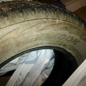 18 inch studded winter tires - set of 4