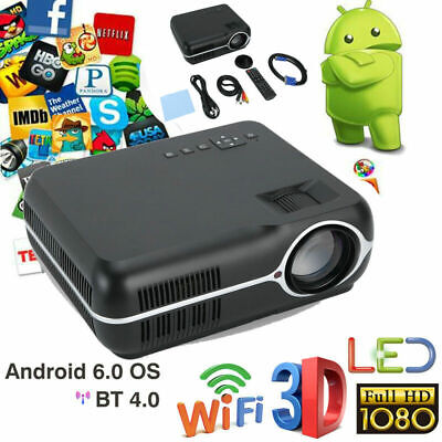 Bluetooth Wifi Wireless Small Projector Android 6.0 Smart Portable Home Theater