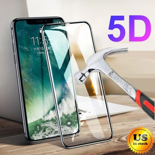 For iPhone XS Max XR 8 7 Plus Curved Full Cover Tempered Gla