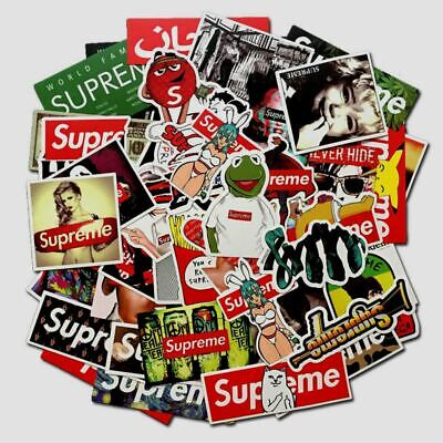 100 pcs Hypebeast supreme Stickers Pack  for Skateboard, Water Bottle