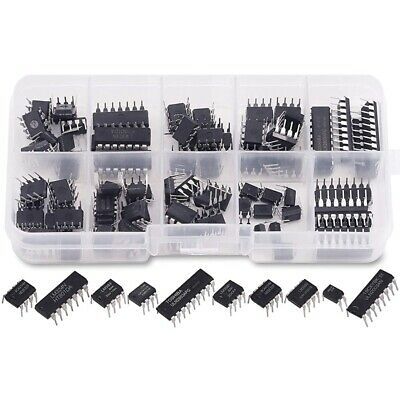 85 Pieces 10 Types Integrated Circuit Chip Assortment Kit Dip Ic Socket Set For