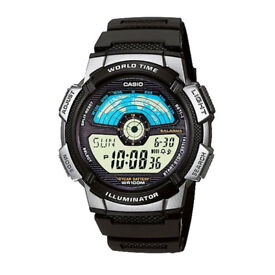 NEW Casio Collection AE-1100W-1AVEF World Time Digital Watch