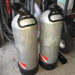 100 cu. Ft steel scuba diving tanks