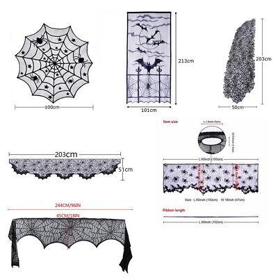 Halloween Requisiten Türvorhang Spitze Tischläufer Skelett Teppiche Tischdecke