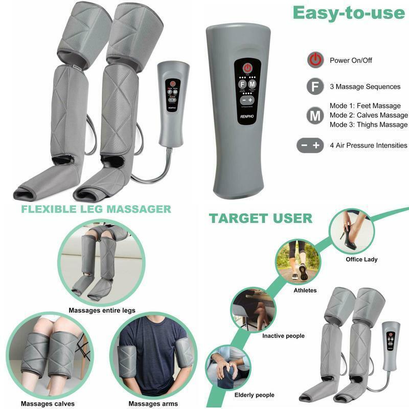 NEW Leg Massager For Relaxation Calf Feet Thigh Massage Sequ