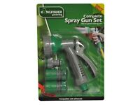 Garden Watering Spray Gun Set includes 6 Dial Gun Set + Fittings