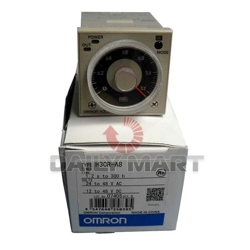 OMRON Timer H3CR-A8 H3CRA8 24-48VAC 12-48VDC New in Box NIB Free Ship