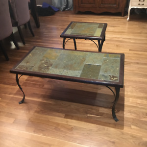 PIER ONE COFFEE AND END TABLE SET