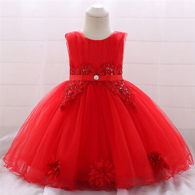 Baby Girl Dress for New Year Clothes Princess Toddler 1st Birthday Party