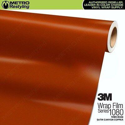 3M 1080 S344 Satin Canyon Copper Vinyl Vehicle Car Wrap Decal Film Sheet Roll