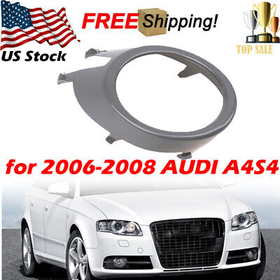 1pcs Front Bumper Grille Fog Light Lamp Grill Cover ABS for Audi A4 B7 2005-2008 Audi A4 Abs Light