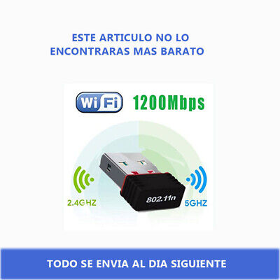 Antena Wifi USB 2.0, mini, Adaptador sin cables, 150 Mbps Nano LAN...