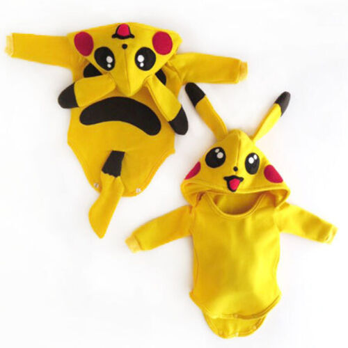 Toddler Baby Girl Boy Pokemon Pikachu Rompers Jumpsuit Outfi