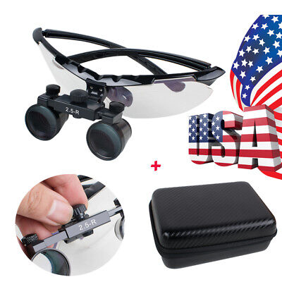 Factory Dental Luxury Surgical Medical Binocular Loupes 2.5x 360580mm Lens Case