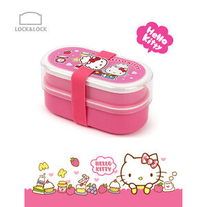 Hello Kitty Chef two steps bands Bento Lunch box – Darkpink Lock & Lock