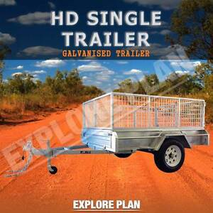 ×7x4galvanized brand Caged new single axle heavy duty trailer× Dandenong Greater Dandenong Preview