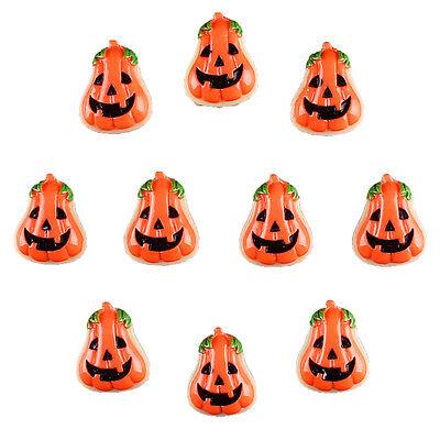 10pcs Resin Halloween Pumpkin Flatback Hair Bow Center DIY Crafts Deco - Halloween Hair Bow Embellishments