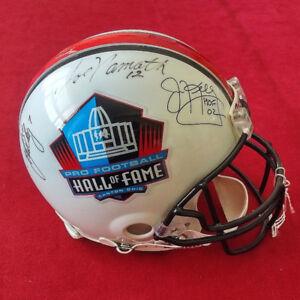 Autographed Football helmet - NFL  Namath/ Elway/Kelly