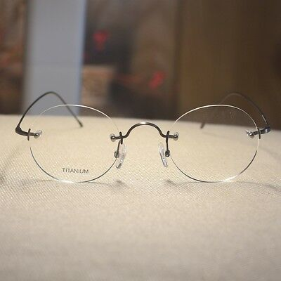 Titanium Round Steve Jobs eyeglasses mens circle gunmetal RX optical glasses](Steve Jobs Glasses)