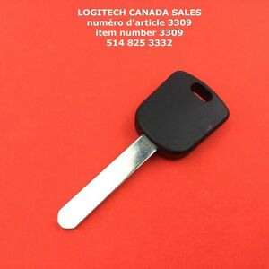 Ignition Chipped Car Key Blank With Transponder Chip For 46