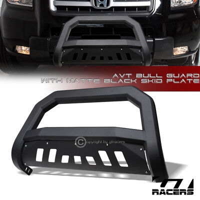 For 2006-2014 Honda Ridgeline Matte Black AVT Edge Bull Bar Brush Bumper Guard
