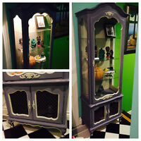 Beautiful Display Cabinet with Light - Beauty & the Beast insp.
