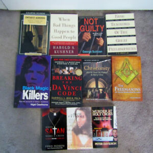 11 Book Lot - True Crime, Freemasons, Da Vinci Code
