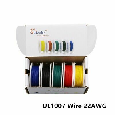 22 Awg Solid Wire (40 Meters Batch 131 Feet Ul 1007 22awg 5 Color Mixing Box Set Solid Wire Kit)