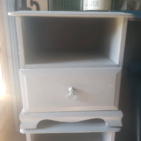 Pair of Stag bedside tables- in need of TLC