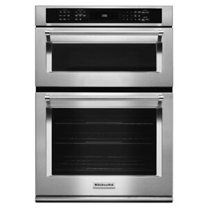 KitchenAid Self-Clean Convection Electric Combination Wall Oven
