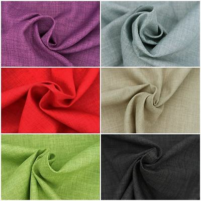 SOFT PLAIN LINEN LOOK DESIGNER CURTAIN CUSHION SOFA UPHOLSTERY FABRIC MATERIAL