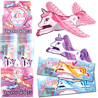 UNICORN FLYING GLIDERS GIRLS TOYS PRIZES CHRISTMAS STOCKING PARTY BAG FILLERS - Flying Gliders