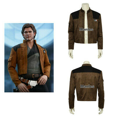 Han Solo Costume Shirt (Solo A Star Wars Story Costume Han Solo Cosplay Superhero Jacket Shirt Suits)