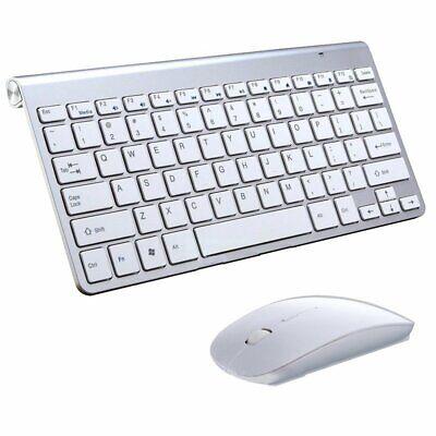 Waterproof 2.4G Wireless Keyboard Mouse w/ USB Receiver For Mac Pc Laptop