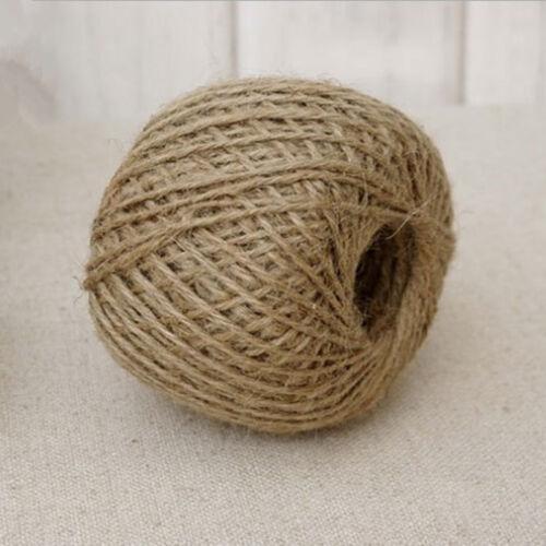 30M 2MM Wrap Gift Link Paper Tag Jute Burlap Ribbon Twine Rope Cord String DIY