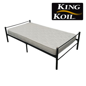King Koil Quilted Foam Bed and Metal Frame Bundle Set!