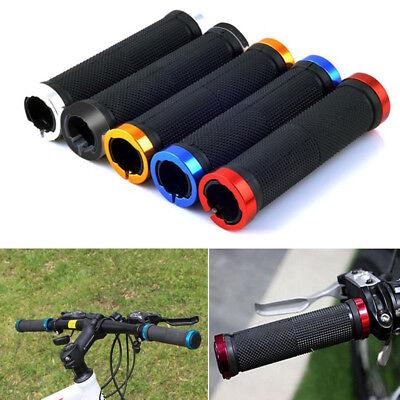 Locking Bar (2pcs Double Lock On Locking Mountain BMX Bike Bicycle Cycling Handle Bar Grips)